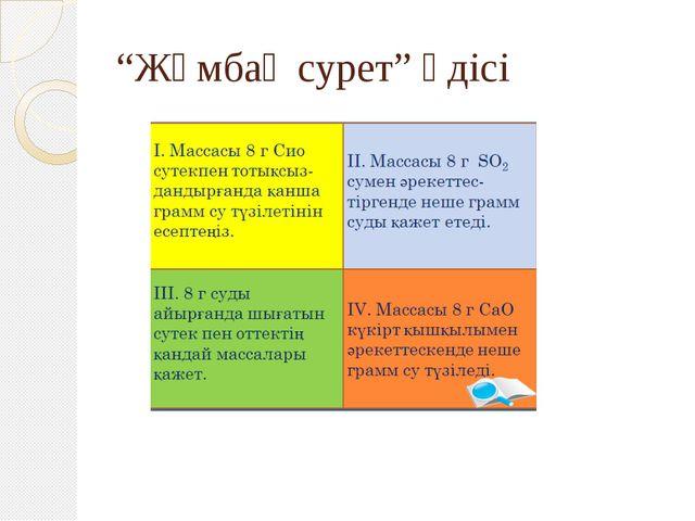 """""""Жұмбақ сурет"""" әдісі"""