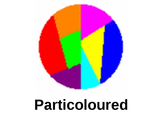 Particoloured