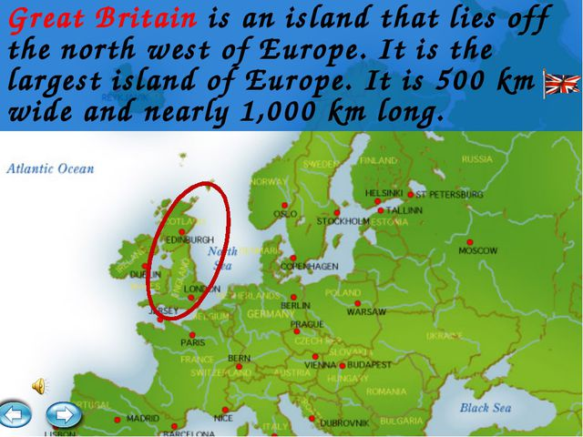 Great Britain is an island that lies off the north west of Europe. It is the...