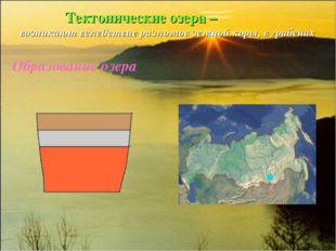 Тектонические озера – возникают вследствие разломов земной коры, в грабенах