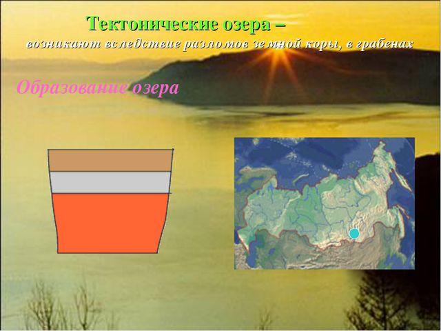 Тектонические озера – возникают вследствие разломов земной коры, в грабенах...