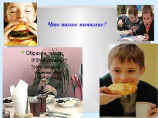 Что такое питание?