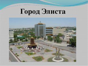 Город Элиста
