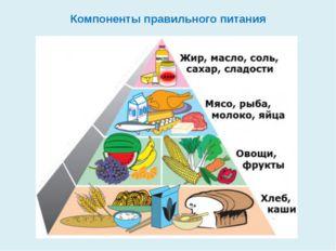 Компоненты правильного питания