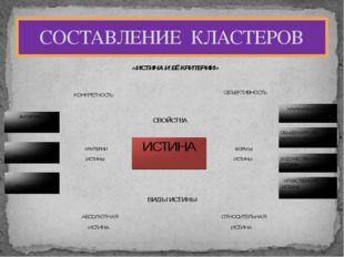 СОСТАВЛЕНИЕ КЛАСТЕРОВ