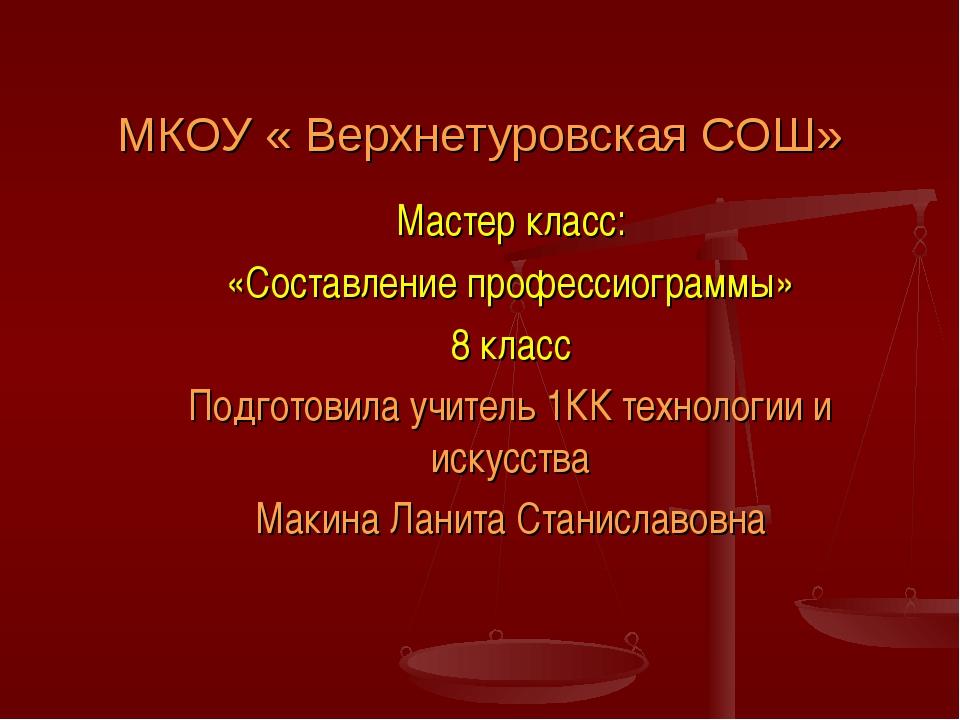 Мастер класс: «Составление профессиограммы» 8 класс Подготовила учитель 1КК т...