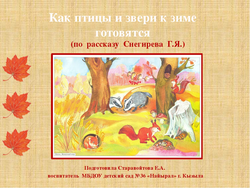 Подготовила Старавойтова Е.А. воспитатель МБДОУ детский сад №36 «Найырал» г....