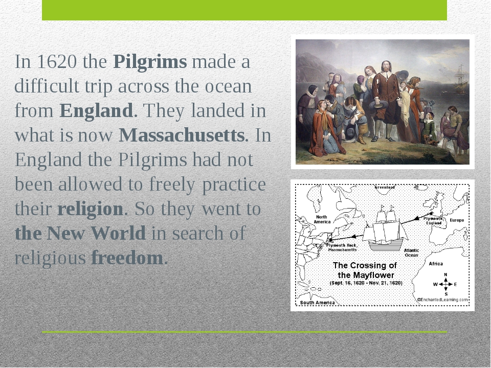 In 1620 the Pilgrims made a difficult trip across the ocean from England. The...