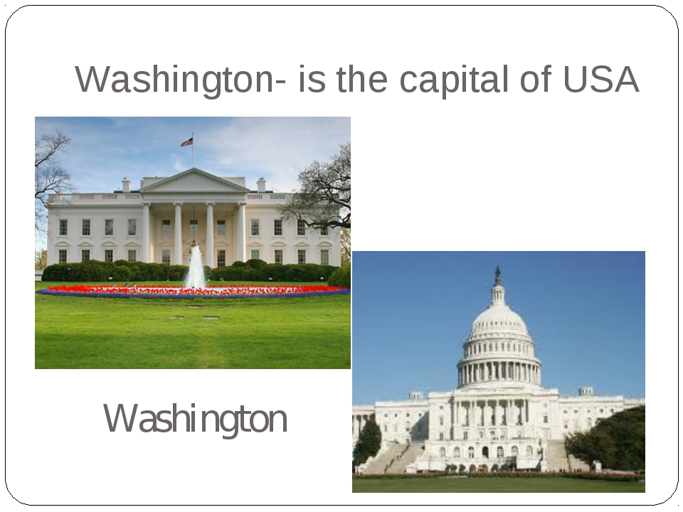 Washington- is the capital of USA Washington