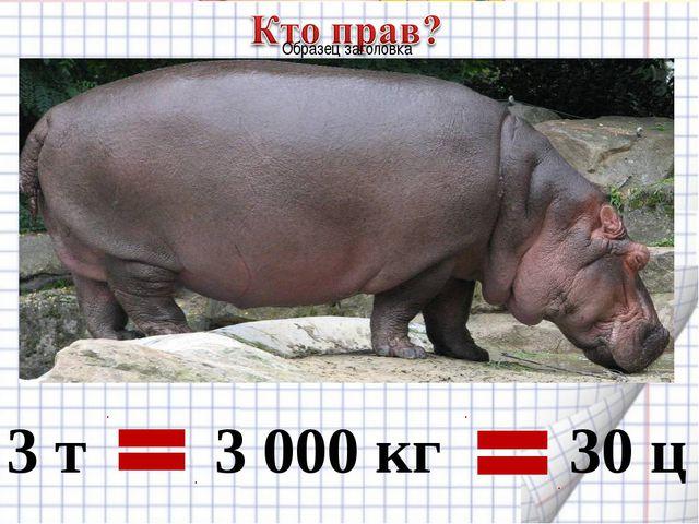 3 т 3 000 кг 30 ц