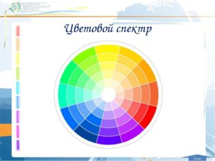 Цветовой спектр план