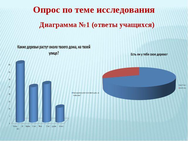 Опрос по теме исследования Диаграмма №1 (ответы учащихся)