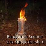 Фото 7 - Горящая Таежная свеча.