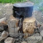 Приготовление пищи на ''Таежной свече-3''