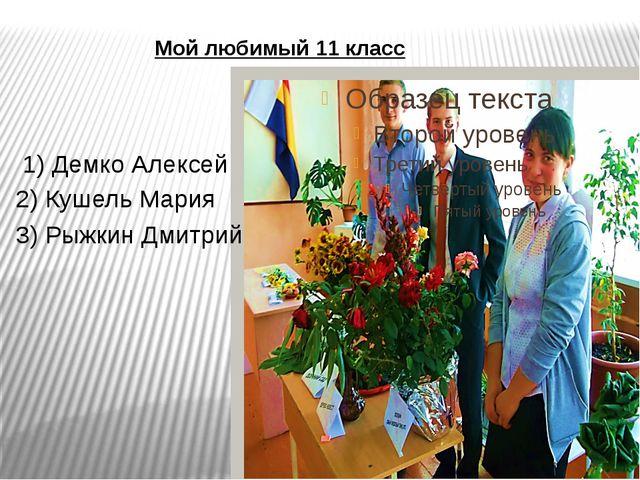 Мой любимый 11 класс 1) Демко Алексей 2) Кушель Мария 3) Рыжкин Дмитрий