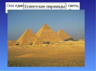 Они единственные из семи чудес света, сохранившиеся до наших дней Египетские