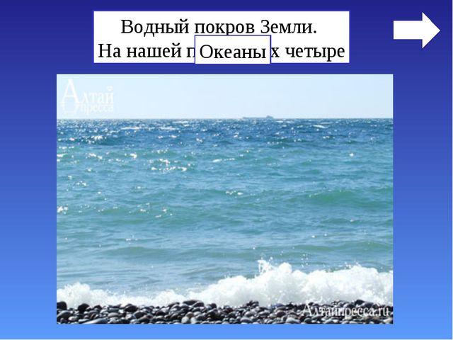 Водный покров Земли. На нашей планете их четыре Океаны