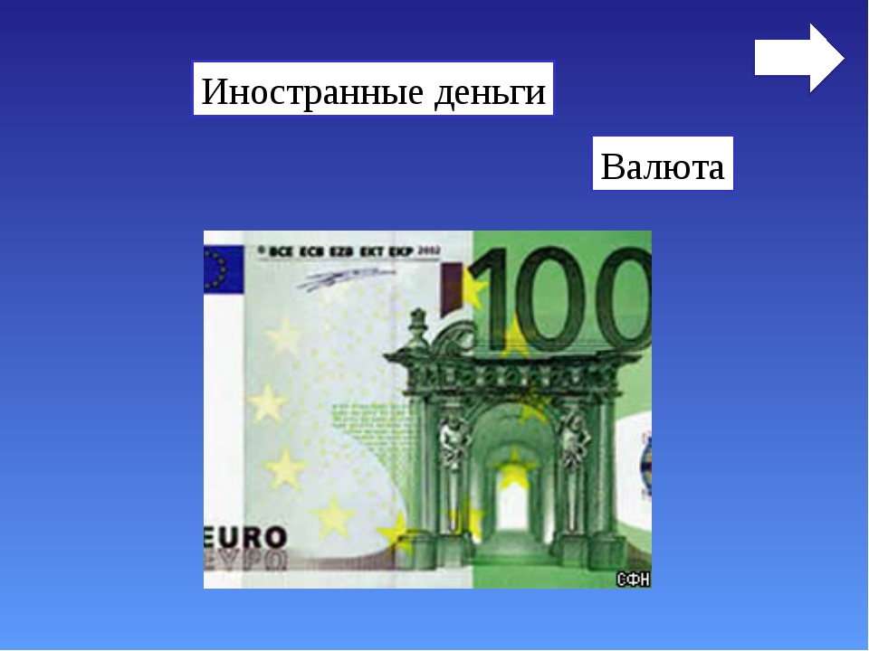Иностранные деньги Валюта