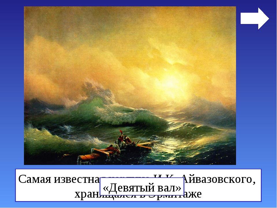 Самая известная картина И.К. Айвазовского, хранящаяся в Эрмитаже «Девятый вал»