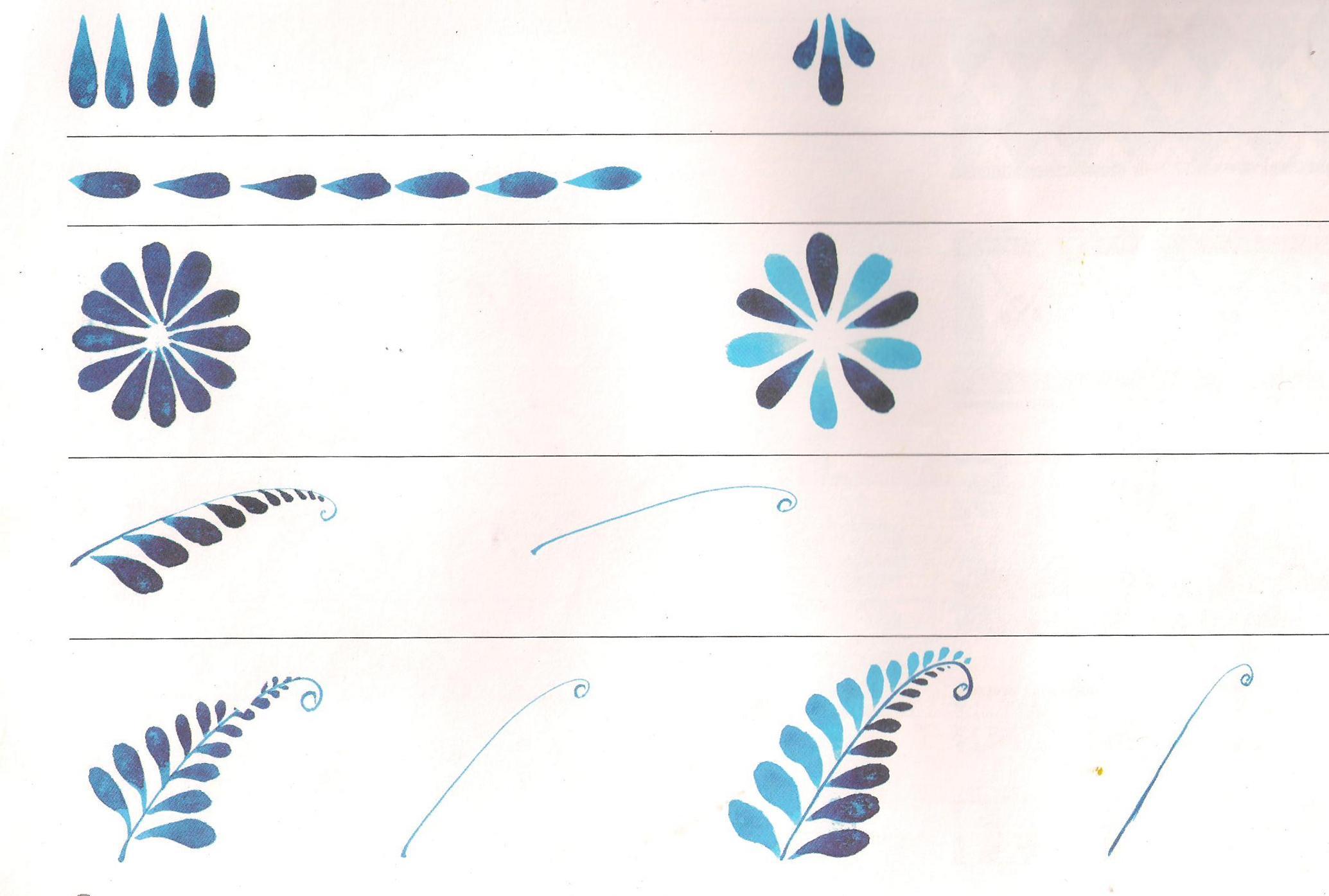 Схема для рисования гжели