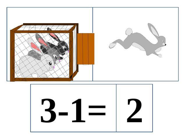 3-1= 2