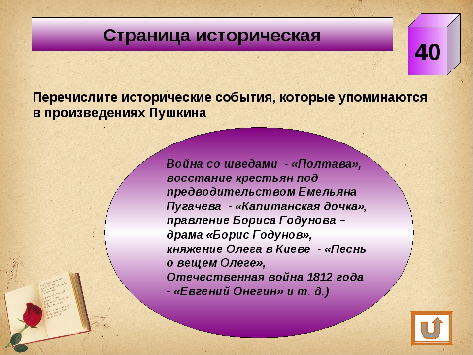 Страница историческая 40 Перечислите исторические события, которые упоминаютс...