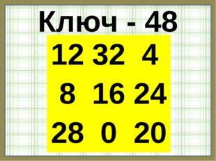 Ключ - 48 12324 81624 28020