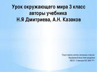 Подготовила учитель начальных классов Мурашова Елена Александровна МБОУ «Гимн