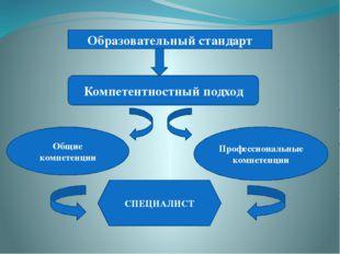 Образовательный стандарт Компетентностный подход Общие компетенции Профессио