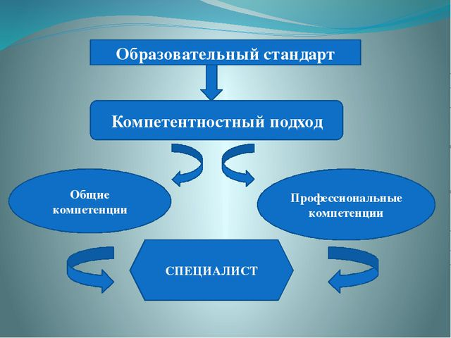 Образовательный стандарт Компетентностный подход Общие компетенции Профессио...