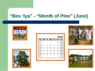"""Bes 'Iya"" - ""Month of Pine"" (June)"