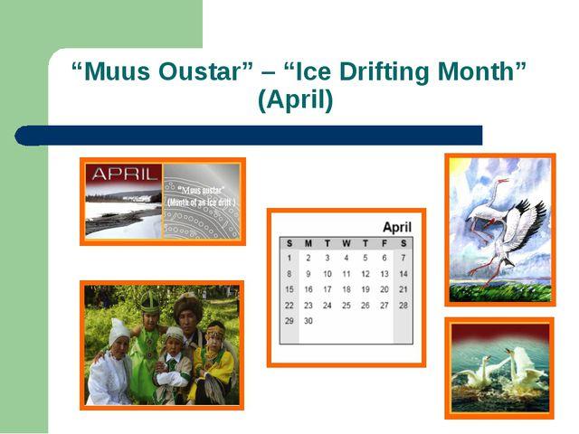 """Мuus Oustar"" – ""Ice Drifting Month"" (April)"