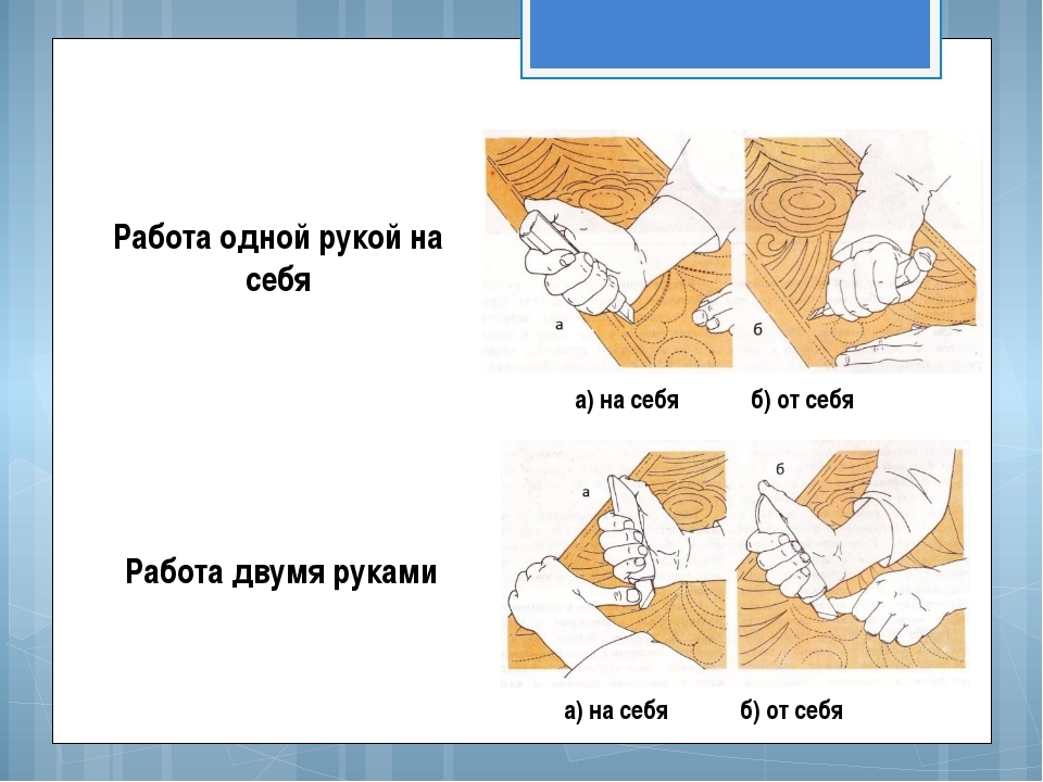 Работа одной рукой на себя Работа двумя руками а) на себя б) от себя а) на се...