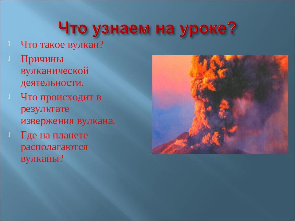 Что такое вулкан? Причины вулканической деятельности. Что происходит в резуль...