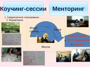 Коучинг-сессии Менторинг lesson Study Исследование урока 1. Среднесрочное пла