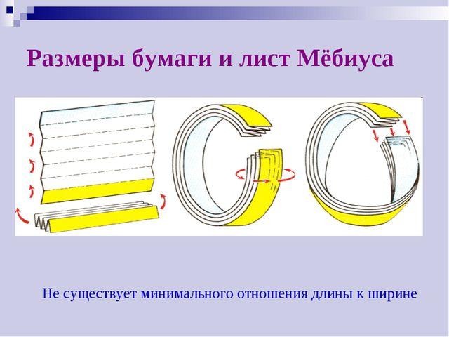 Размеры бумаги и лист Мёбиуса Не существует минимального отношения длины к ши...