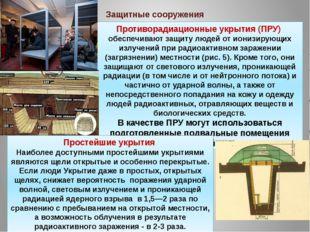 Противорадиационные укрытия (ПРУ) обеспечивают защиту людей от ионизирующих и