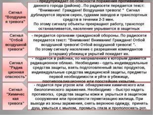 """Сигнал """"Воздушная тревога"""" - предупреждает об опасности поражения противником"""