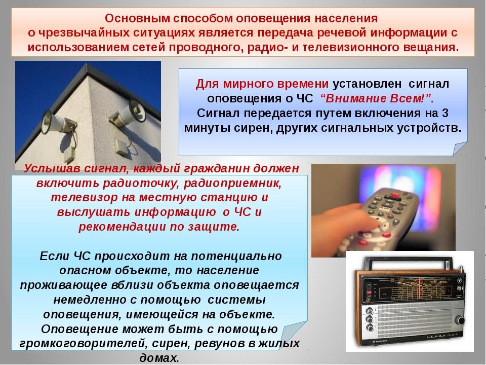 Услышав сигнал, каждый гражданин должен включить радиоточку, радиоприемник,...