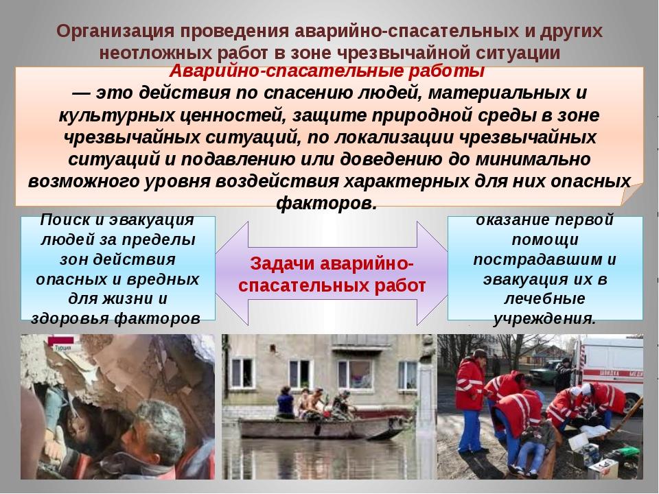 Аварийно-спасательные работы — это действия по спасению людей, материальных...