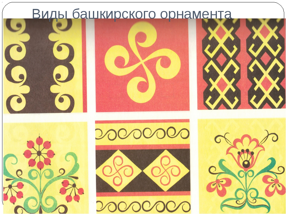 Виды башкирского орнамента
