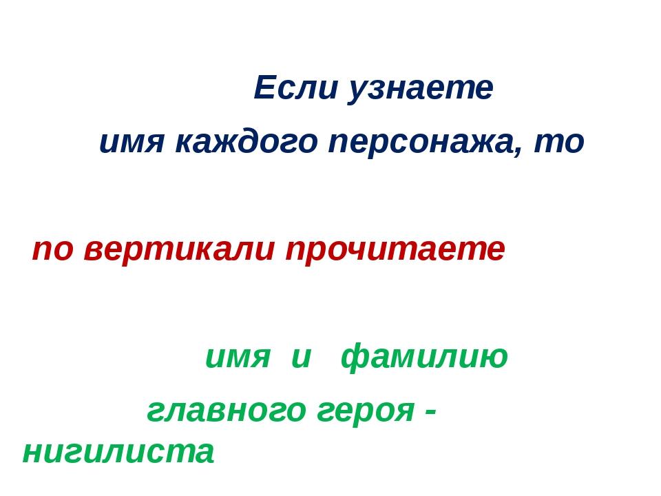 Если узнаете имя каждого персонажа, то по вертикали прочитаете имя и фамилию...