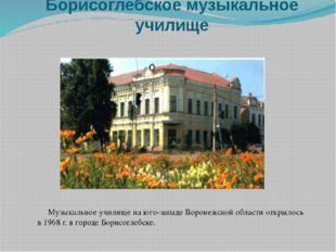Борисоглебское музыкальное училище Музыкальное училище на юго-западе Воронежс
