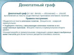 Денотатный граф (от лат. denoto — обозначаю) — способ вычленения из текста су
