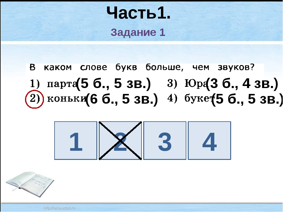 Часть1. Задание 1 1 2 3 4 (6 б., 5 зв.) (3 б., 4 зв.) (5 б., 5 зв.) (5 б., 5...