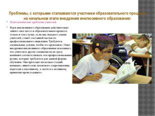 Проблемы, с которыми сталкиваются участники образовательного процесса на нача