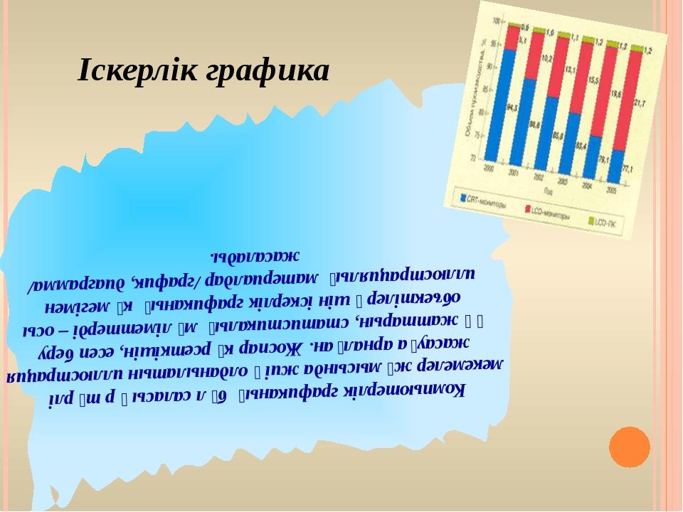Көркемдік графика Графикалық кескін жасау және редакциялау үшін, мысалы, басп...