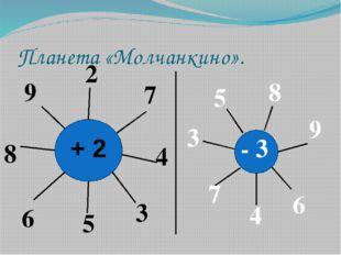 Планета «Молчанкино». 2 7 4 3 5 6 8 9 - 3 8 9 6 4 7 3 5