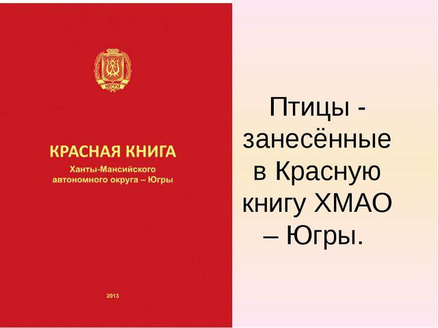 Птицы - занесённые в Красную книгу ХМАО – Югры.