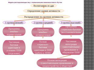 Модель рессоциализации лиц с ограниченными возможностями в гбу пни Воспитанни